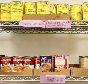 AMS Food Bank Shelves